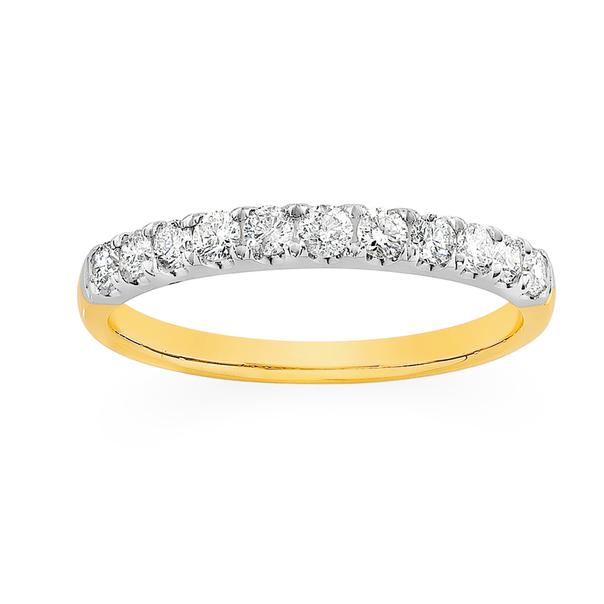 18ct Gold Diamond Band