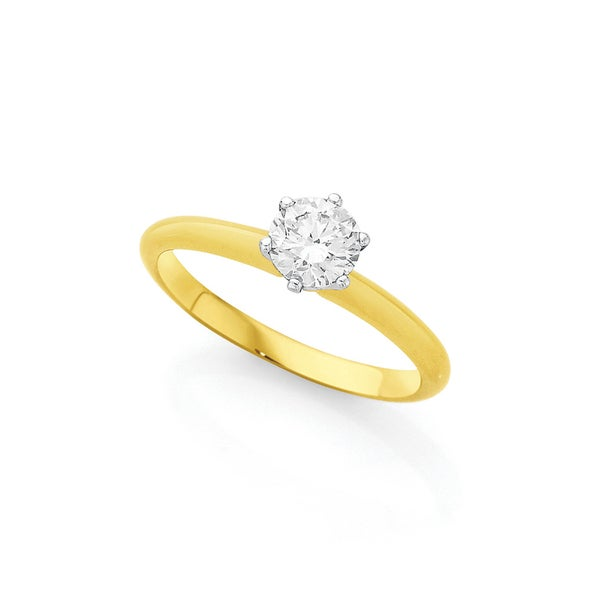 18ct Gold Diamond Solitaire Ring