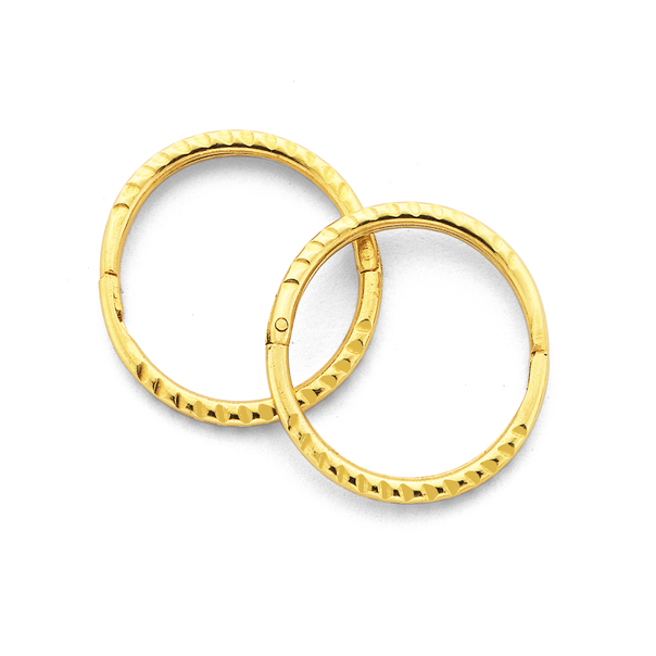9ct Gold 10mm Small Twist Sleepers