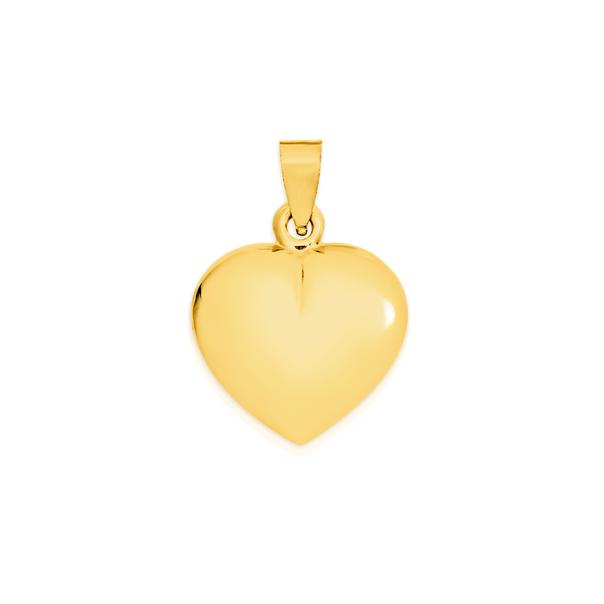 9ct Gold 14mm Heart Pendant