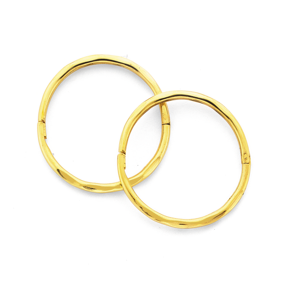 9ct Gold 14mm Large Facet Sleepers