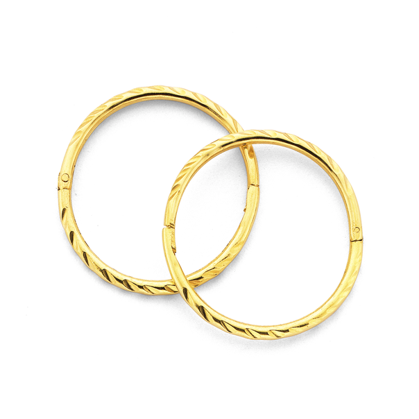 9ct Gold 14mm Large Twist Sleepers