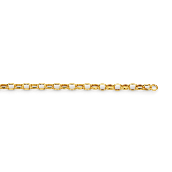 9ct Gold 19cm Oval Belcher Bracelet