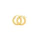 9ct Gold 2.5x10mm Hoop Earrings