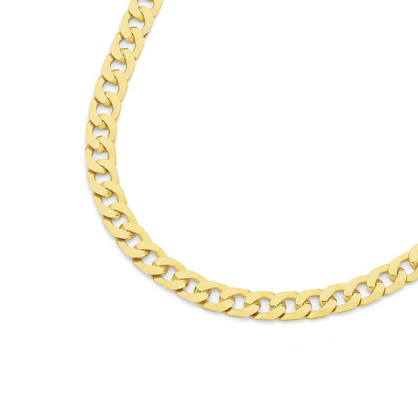 9ct Gold 45cm Bevelled Curb Chain