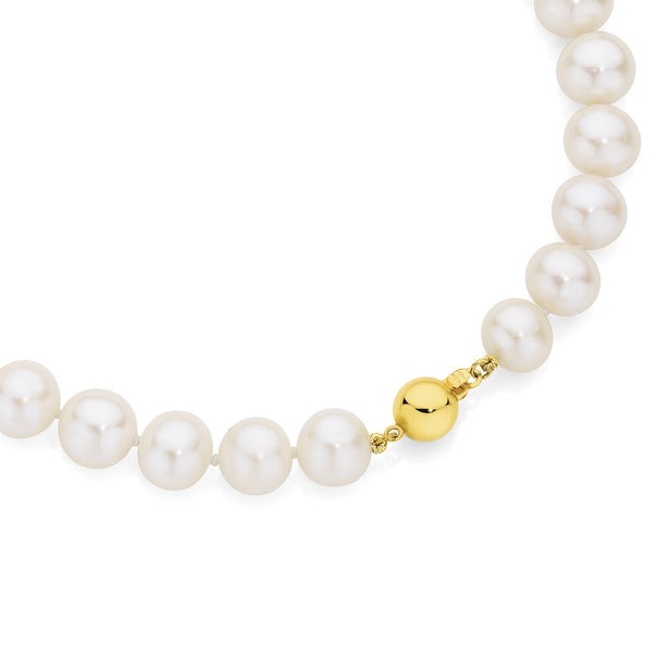 9ct Gold 45cm Cultured Fresh Water Pearl Necklace
