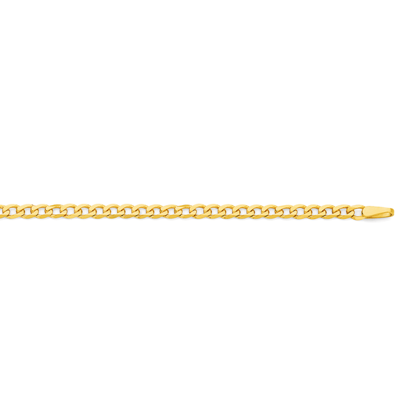 9ct Gold 45cm Solid Oval Curb Chain