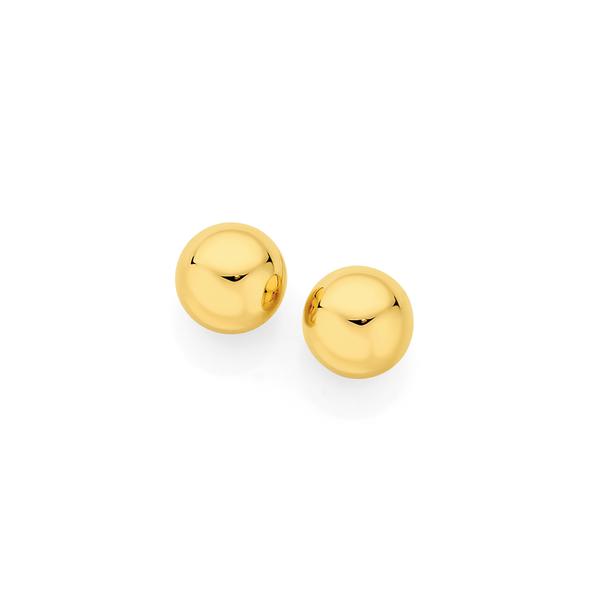 9ct Gold 4mm Ball Stud Earrings