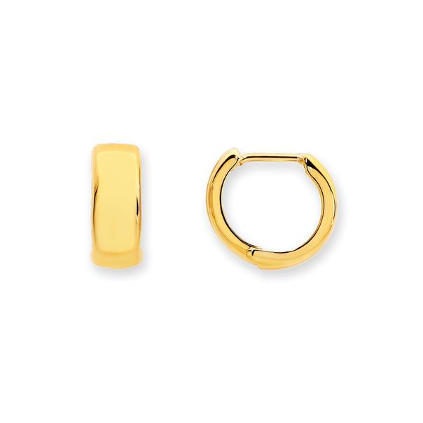 9ct Gold 4x10mm Huggie Earrings