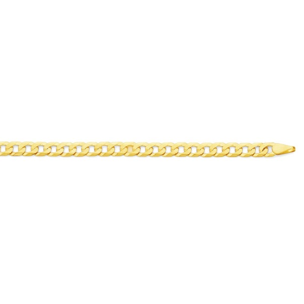9ct Gold 50cm Solid Bevelled Curb Chain