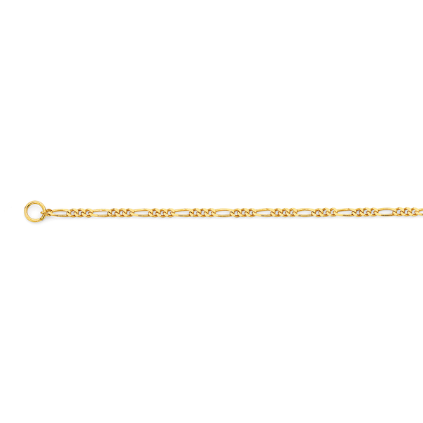 9ct Gold 50cm Solid Figaro 3+1 Chain