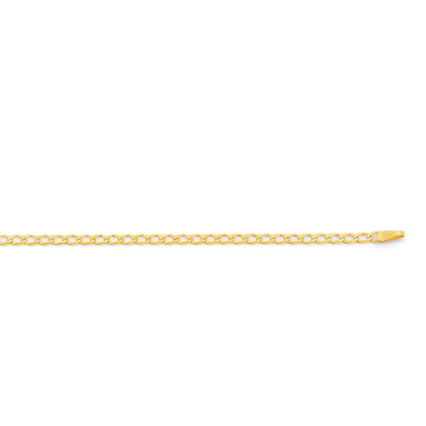 9ct Gold 50cm Solid Open Curb Chain