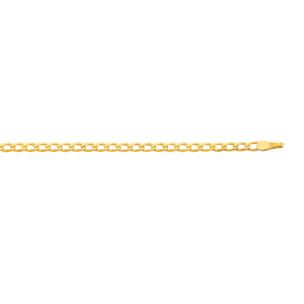 9ct Gold 50cm Solid Oval Curb Chain