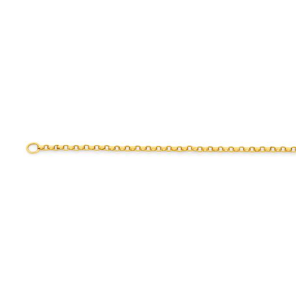 9ct Gold 50cm Solid Round Belcher Chain