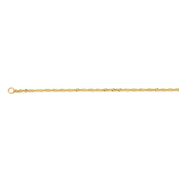 9ct Gold 50cm Solid Singapore Twist Chain
