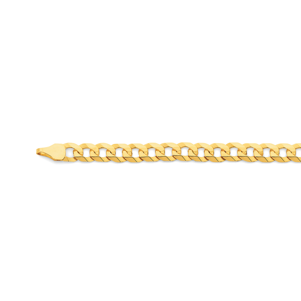 9ct Gold 55cm Solid Flat Curb Chain