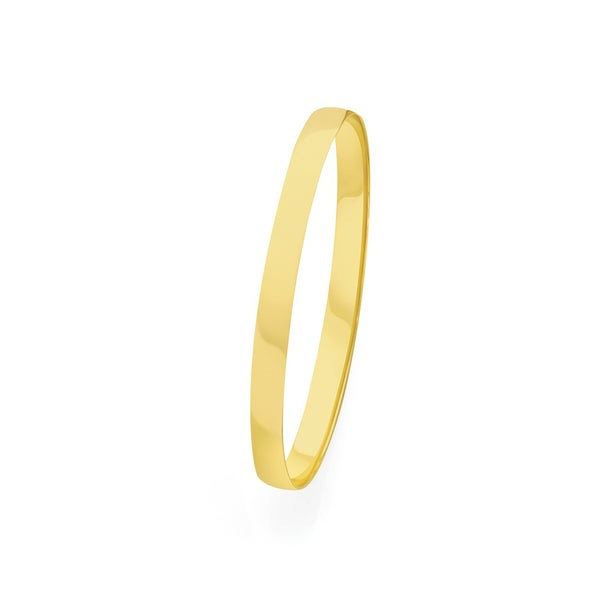 9ct Gold 65mm Solid Bangle