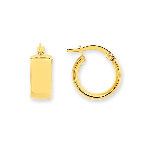 9ct Gold 6x10mm Hoop Earrings
