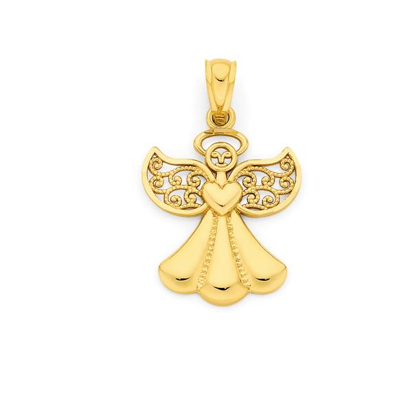 9ct Gold Angel Pendant
