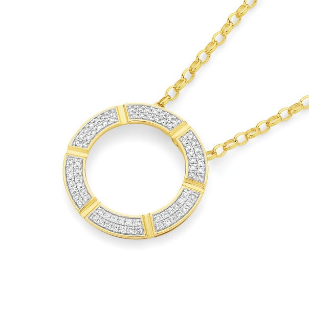 9ct Gold Circle of Love Pendant