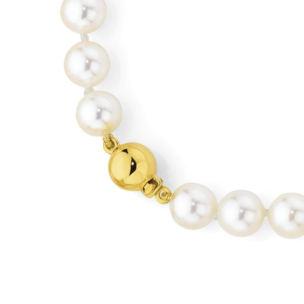 9ct Gold Cultured Fresh Water Pearl Necklace