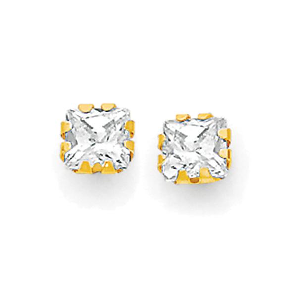 9ct Gold CZ Childrens Stud Earrings