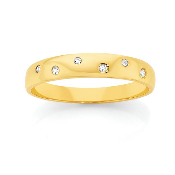 9ct Gold Diamond Band