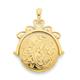 9ct Gold Engraved Spinner Locket