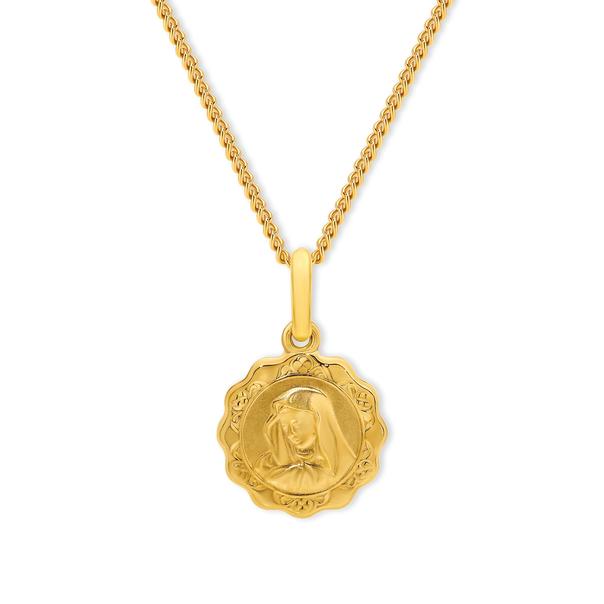 9ct Gold Madonna Medal