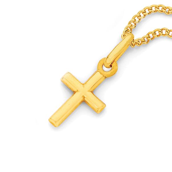 9ct Gold Mini Cross Pendant