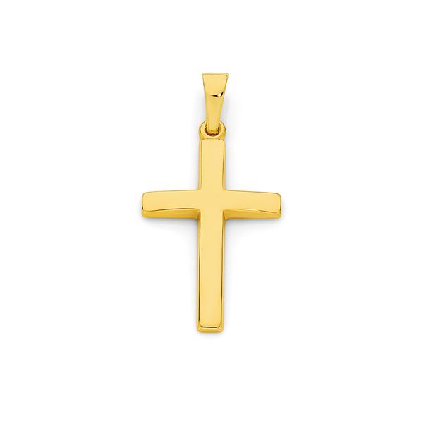 9ct Gold Polished Cross Pendant
