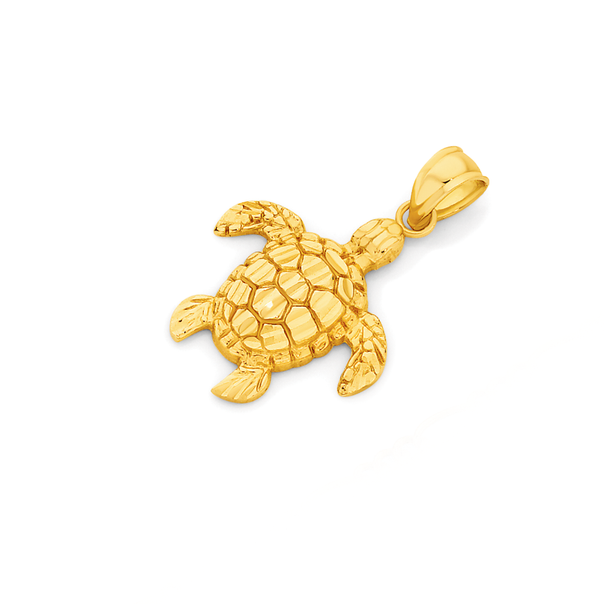 9ct Gold Sea Turtle Pendant