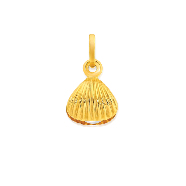 9ct Gold Shell Charm