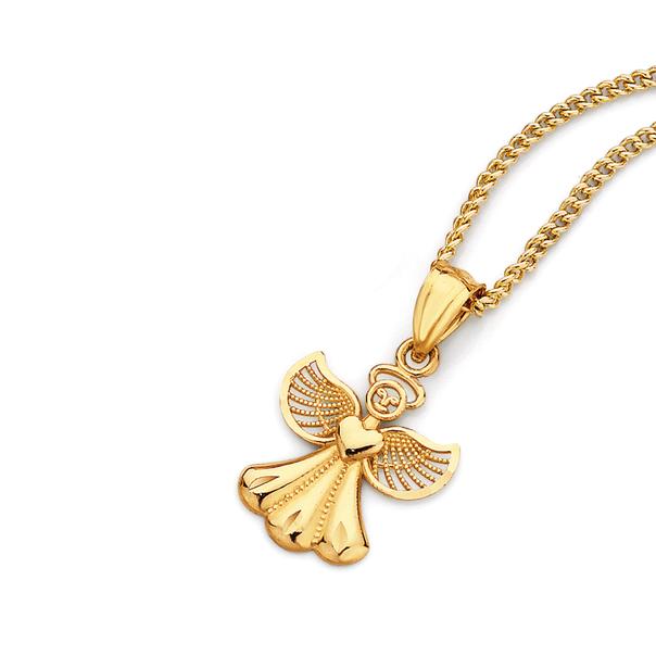 9ct Gold Small Angel Pendant