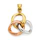 9ct Gold Tri Tone Celtic Pendant