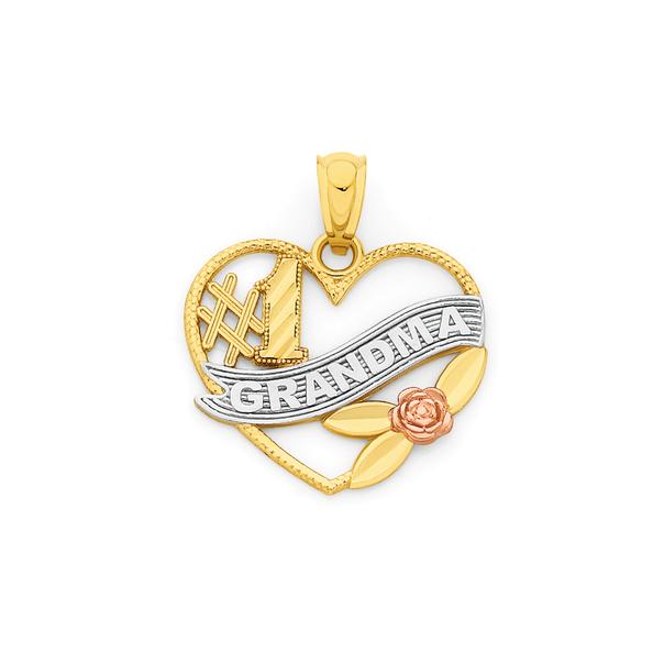 9ct Gold Tri Tone Grandma Pendant