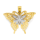 9ct Gold Two Tone Butterfly Pendant
