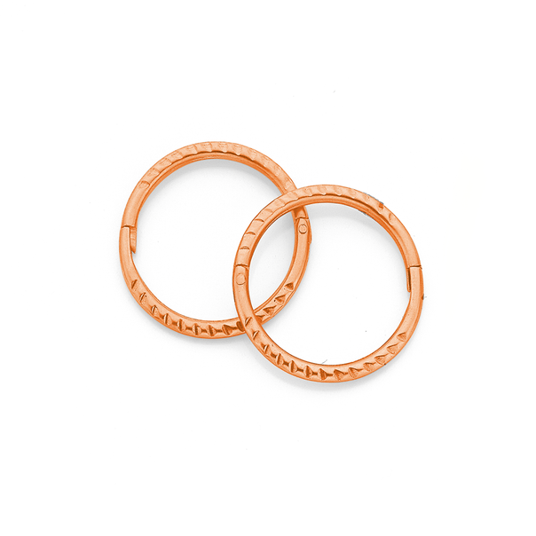 9ct Rose Gold 10mm Small Twist Sleepers