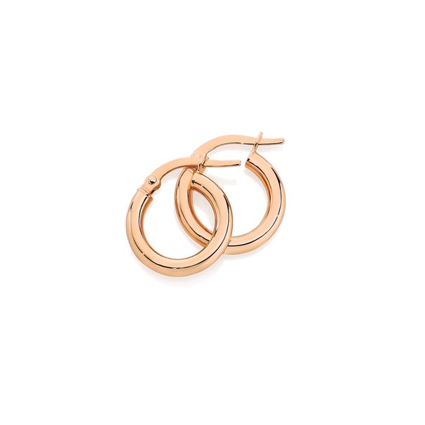 9ct Rose Gold 2.5x10mm Polished Hoop Earrings