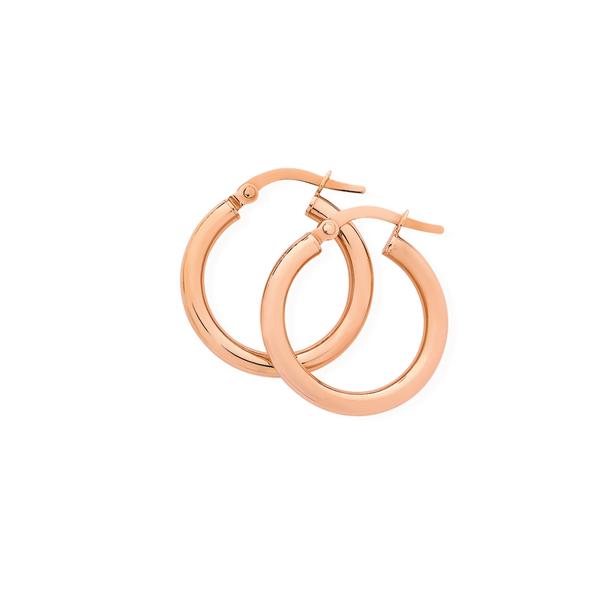9ct Rose Gold 2.5x15mm Hoop Earrings