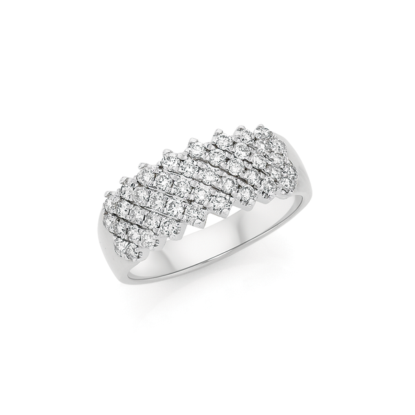 9ct White Gold Wide Dress Band