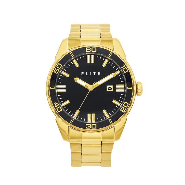 Elite Mens Gold Tone Watch