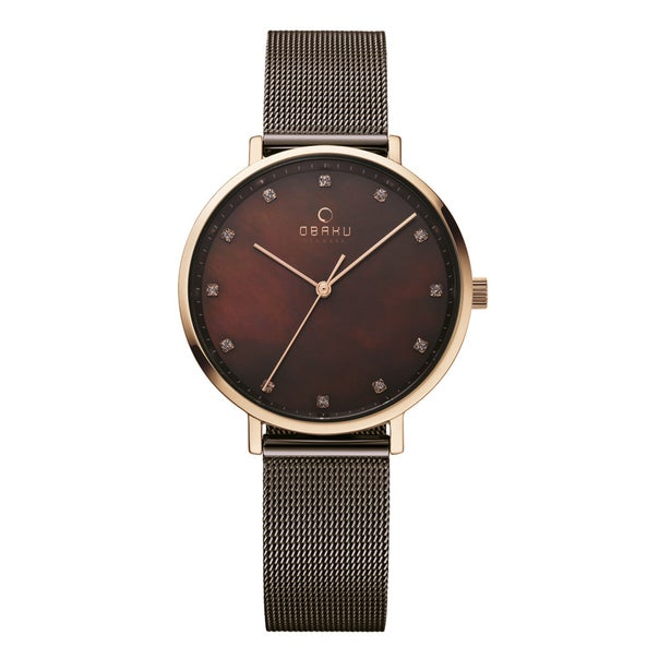 Obaku Vest - Walnut Ladies Watch