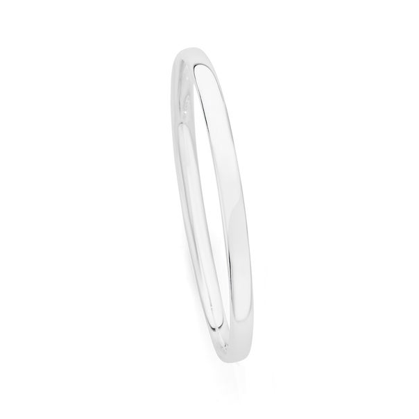 Silver 5x60mm Solid Bangle