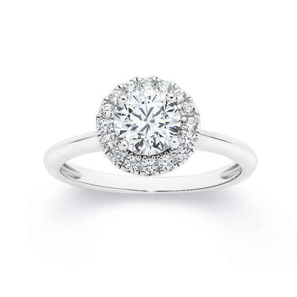 Silver CZ Small Round Cluster Ring