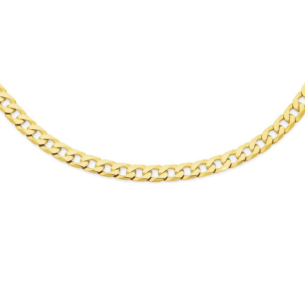 Solid 9ct Gold 55cm Curb Chain